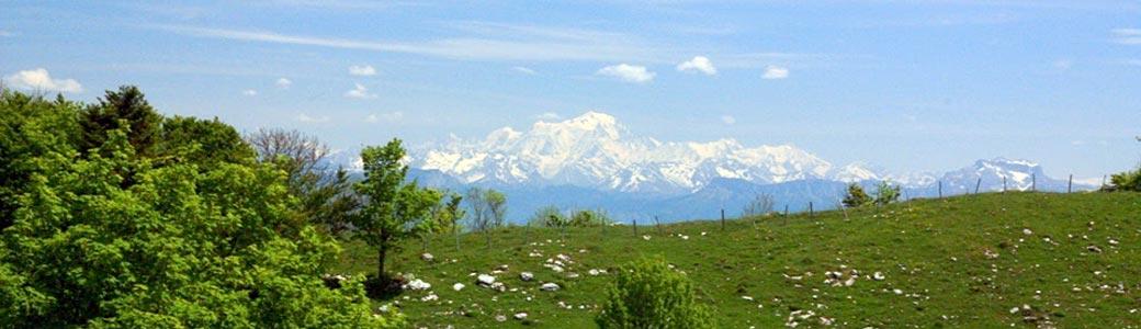 Vue du Mont-Blanc à Sur Lyand, Corbonod